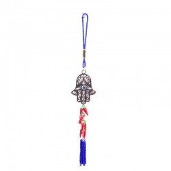 Stylish amulet in the car hamsa with pepper a great souvenir from the Holy Land