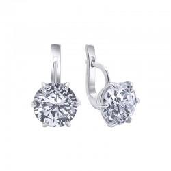 "Silver earrings with zirconia ""Monterey"""