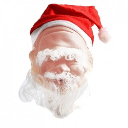 with small cap Latex mask grandfather frost