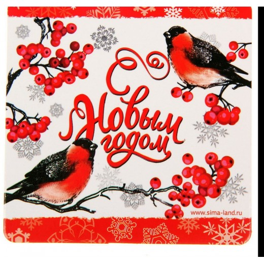 """A set of coasters for hot 2pcs. """"Happy New Year"""", 9 cm"""