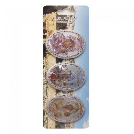 Set of magnets of 3 pieces - Jerusalem