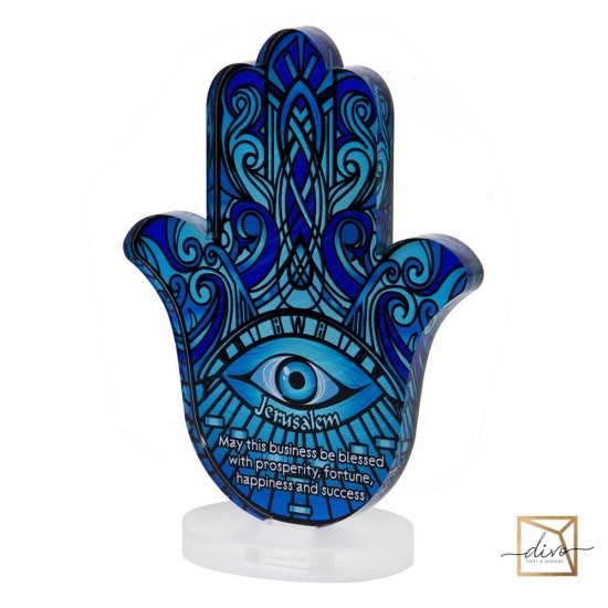 28333439,Hamsa on a stand 11.5-6-15 see The blessing of business