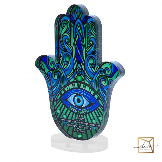 28333441,Hamsa on the stand.11.5-6-15 cm the Blessing of the House