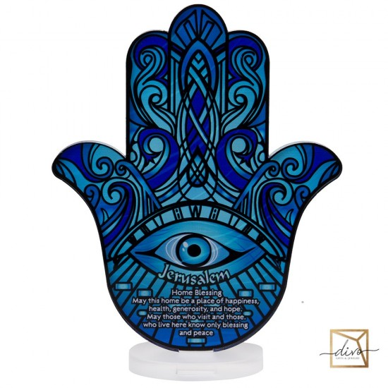 28333442,Hamsa on a stand 14.8-6-18.5 cm Blessing at home