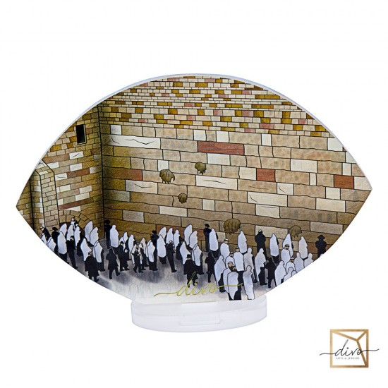 Souvenir tabletop panorama of Jerusalem 18-6-12.8 cm