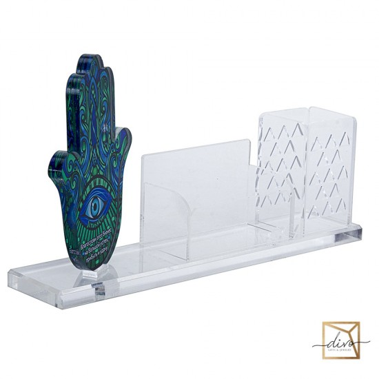 Hamsa office organizer. The blessing of business 27-6-15. 3 cm. Blue
