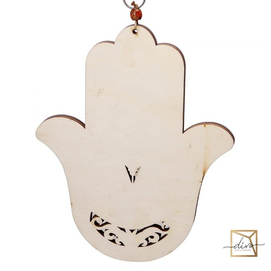 Hamsa Blessing of the House. Colored with eye 20.5-1-25 cm