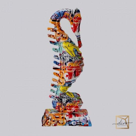 29270257_1,Interior Sculpture Graffiti Set Seahorses 16-10-38. 18-11-48 Cm