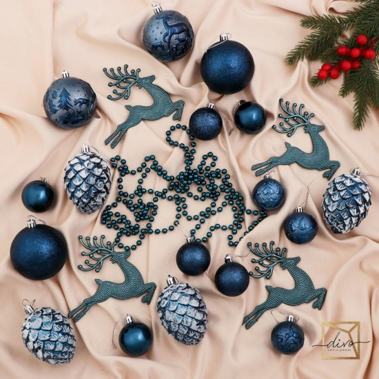 "Jewelry Set Plastic 32 pcs ""Frosty Day"" blue"
