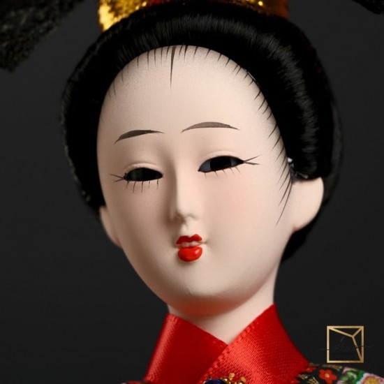 """27298595,Collectible doll """" Chinese woman in the national. dress with a Chinese lantern"""" 32-12, 5-12, 5 cm"""