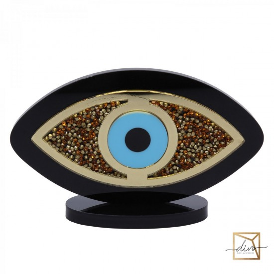 27821263,Evil Eye Amulet Black With Blue