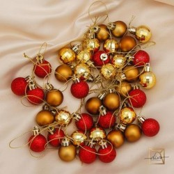 Set of Christmas Plastic Balls for Christmas Balls 40 pieces, 2.5 cm
