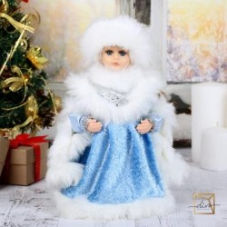"Snow maiden 30 cm ""Chic"" Blue fur Coat"