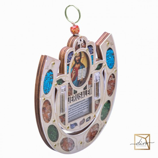 27365460,Blessing of the Horseshoe House, Charm With Jesus Icon