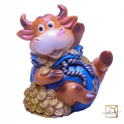 Piggy Banks Bulls With Money 10-8-12 Cm, Ceramic