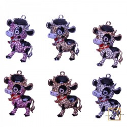 """Magnet """" Happiness in the New Year!"""" Symbol Of The Year Bull"""