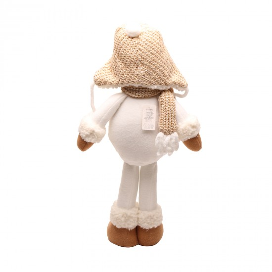 Interior decoration toy Snowman in a knitted hat with a scarf