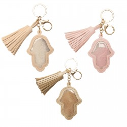 Fancy keychain with Hamsa charm