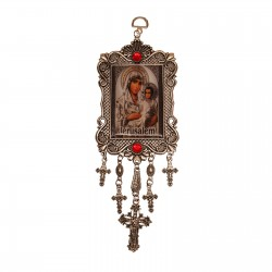 Pendant with a photo of the icon of Mary of Jerusalem