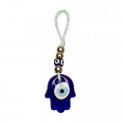 Glass suspension in the form of Hamsa