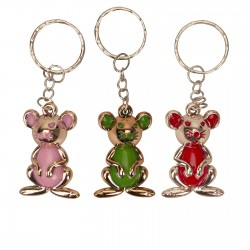 Keychains in the form of elegant bright mice