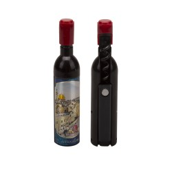 Magnetic bottle opener for alcoholic beverages