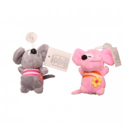 Toy soft mouse on the suction Cup