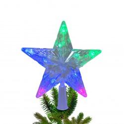 Star on the Christmas tree, 10 bulbs with colored flashing lights