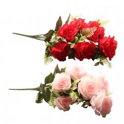 A bouquet of ten beautiful roses