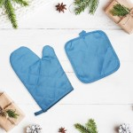 Gift set 2 in 1: a tack and mitten with a drawing of Jerusalem