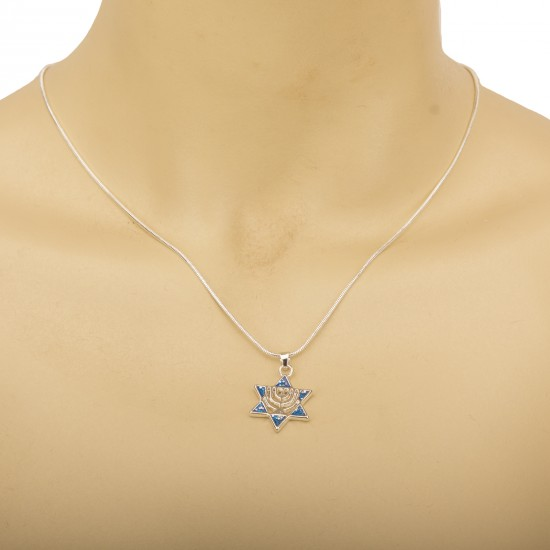 Pendant pendant Magen David (Star of David) on a chain