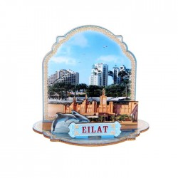 "Stand on the table ""Eilat Dolphin"" layered souvenir"