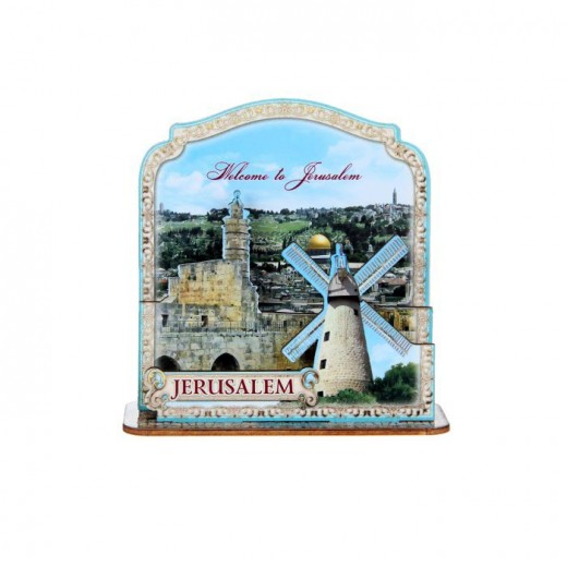 Stand on the table (Jerusalem composition) layered souvenir