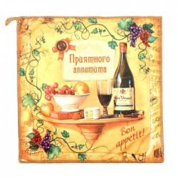"""Towel microfiber """"Collorista"""" Bon appetit, 30x30 cm, 200 g / m2-5ps"""