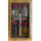 The set of a pilgrim from Jerusalem with candles contains 4 bottles