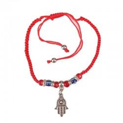 Hand bracelet with hanging Hamsa
