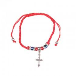 Hand bracelet with pendant cross