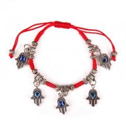 Hand bracelet with hanging Hamsa 5 pcs.
