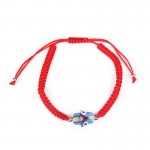 Bracelet on hand with Hamsa Red thread