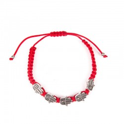 Hand bracelet with hanging Hamsa 5 pcs. Red thread.