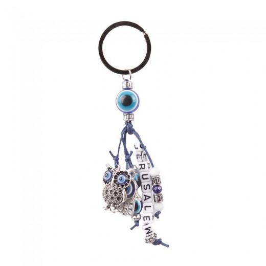 Keychain  metal owl
