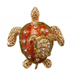 Magnet with rhinestones - Turtle
