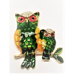 Magnet with rhinestones - Owl