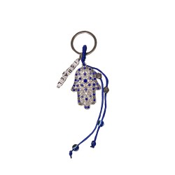 Keychain with a hamsa hand + cubes with an inscription ISRAEL