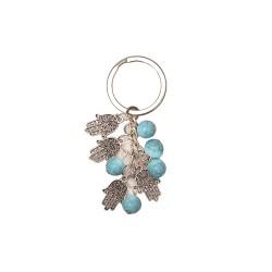 Keychain with hanging Hamsa  turquoise