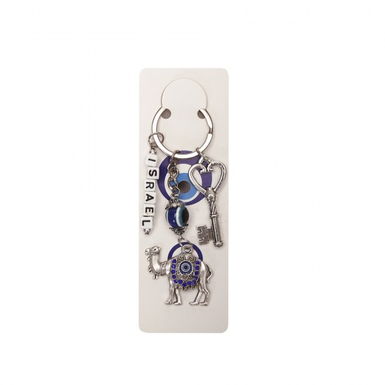 Брелок ключ, верблюд+ кубики с надписью ISRAEL