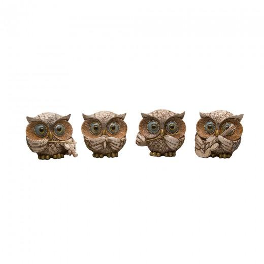 A set of owls, 4 pcs