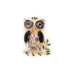 Magnet owl mix gold and silver