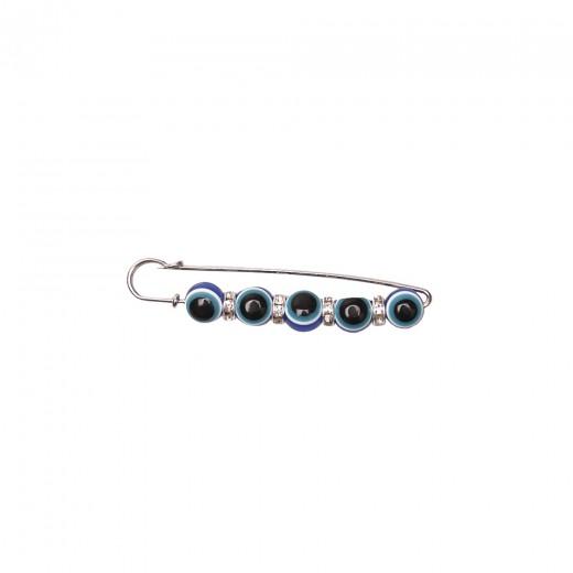 Blue eye brooch pin
