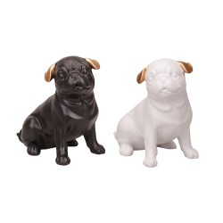 Gift set of 2 dogs, black and white color mix